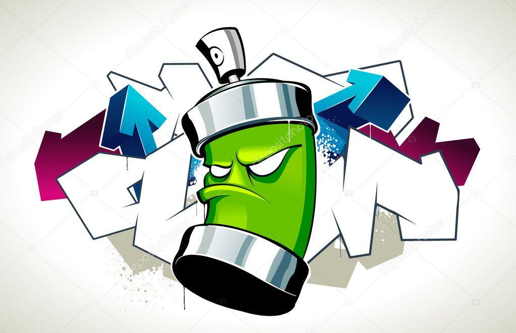 Cool Graffiti Bild Stockvektor Vecster 1391176