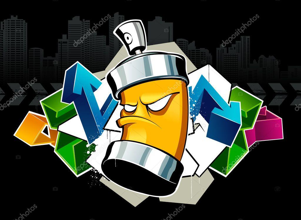 cool graffiti image stock vector vecster 1391194