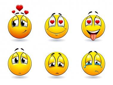 Set of pretty smiles-balls