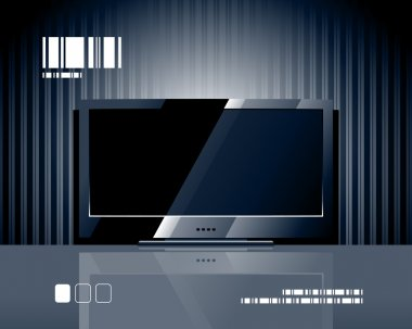 Vector LCD TV screen