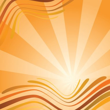 Abstract background with waves in orange
