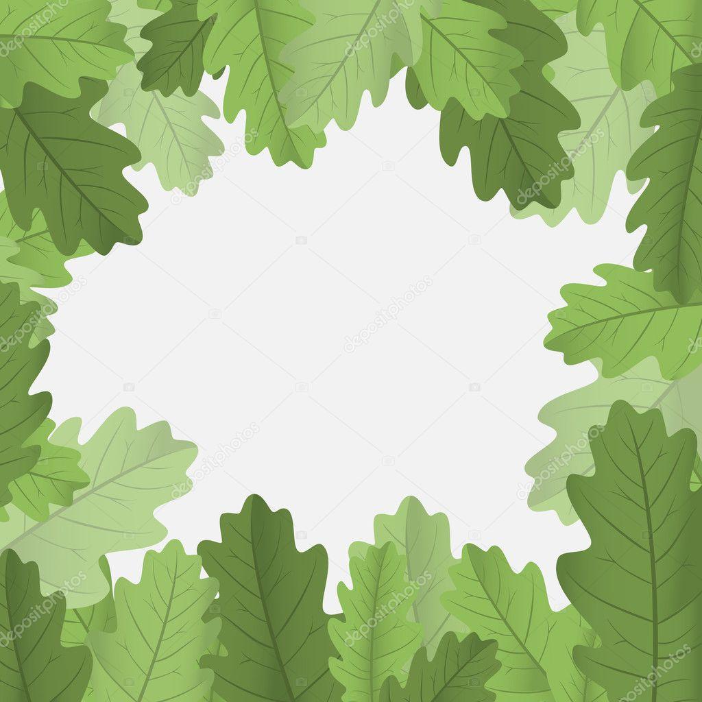 Framework with leaves