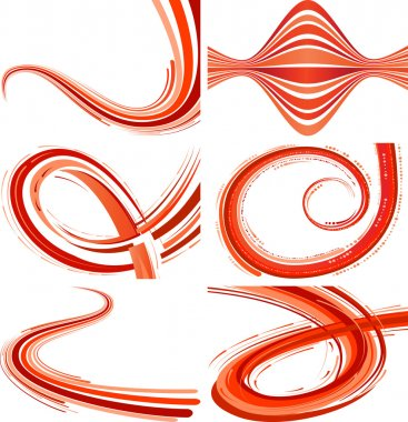 Abstract background with bent lines