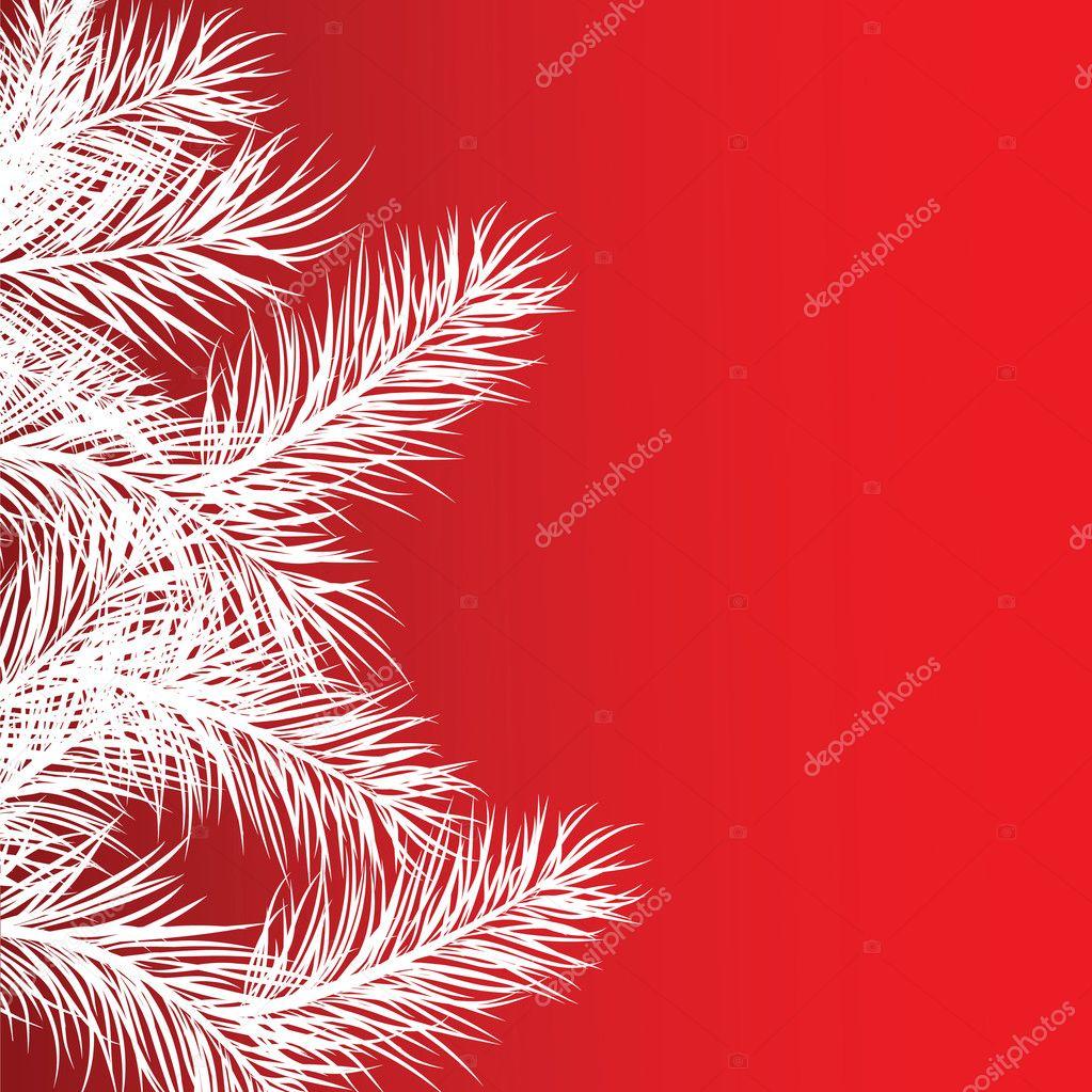 Framework from white pine branches