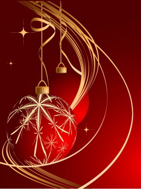 Abstract vector Christmas background in red colors clip art vector