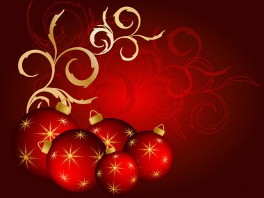 Abstract vector Christmas background with balloons clip art vector