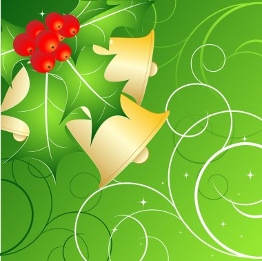 Abstract vector Christmas background with bells clip art vector