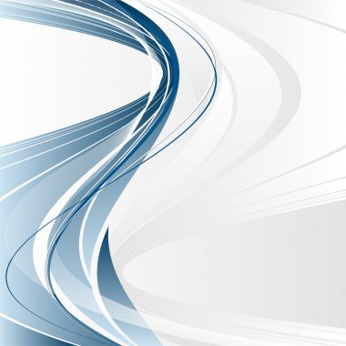 Abstract vector modern backdrop with wavy lines and copy space clip art vector