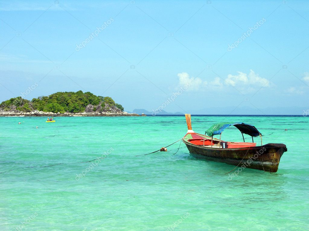 Longtail boat in Andaman sea