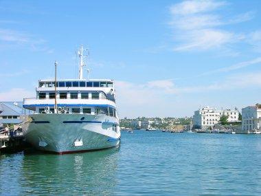 Cruise liner in Sevastopol harbor