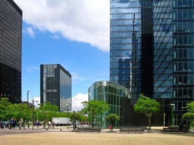 Modern tower buildings in Brussels