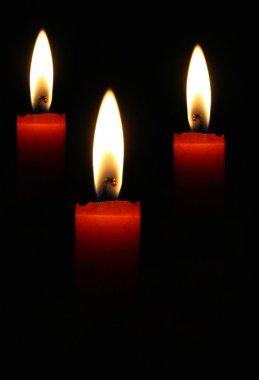 Three candles