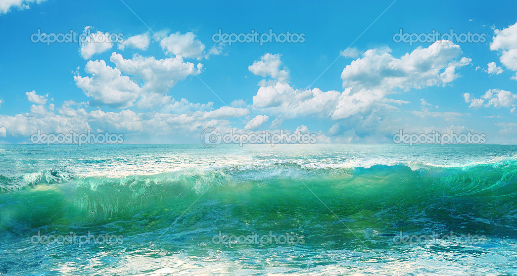 Marine picturesque landscape.