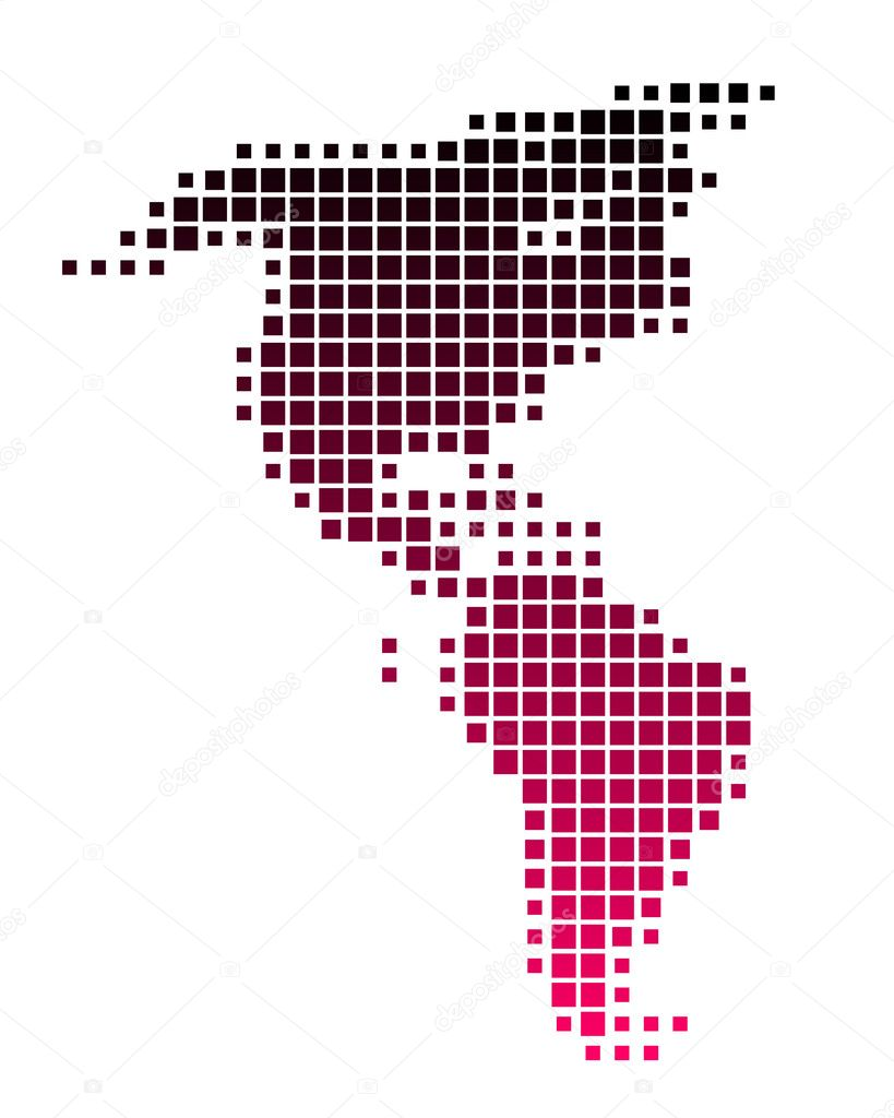 Purple America Map.Map Of America In Squares With Purple Gr Stock Photo C Rbiedermann