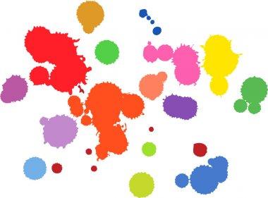 Vector of colored gouache splashes clip art vector