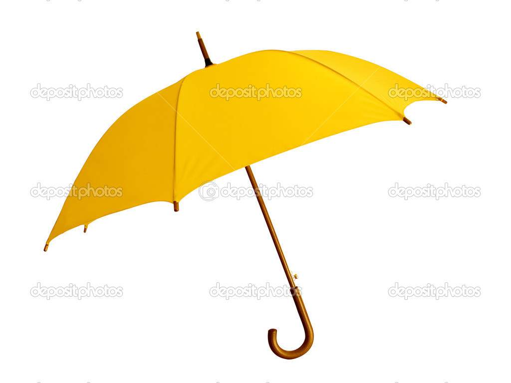 4a3e4a4028bef The big yellow umbrella - reliable protection against a rain — Photo by  Trinity
