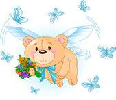 Létající medvídek modrý
