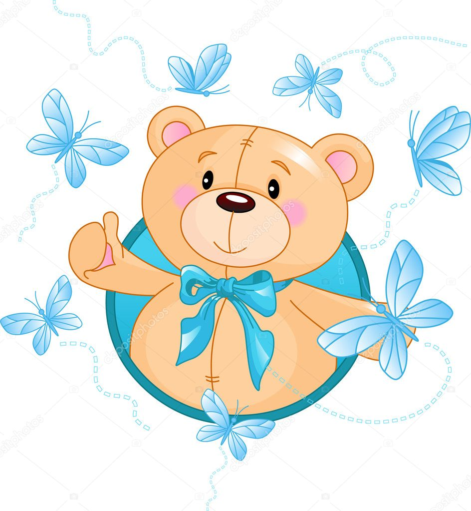 Teddy Bear — Stock Vector © Dazdraperma #1289757