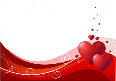 Abstract Valentines Day background with hearts. Place for copy\text stock vector