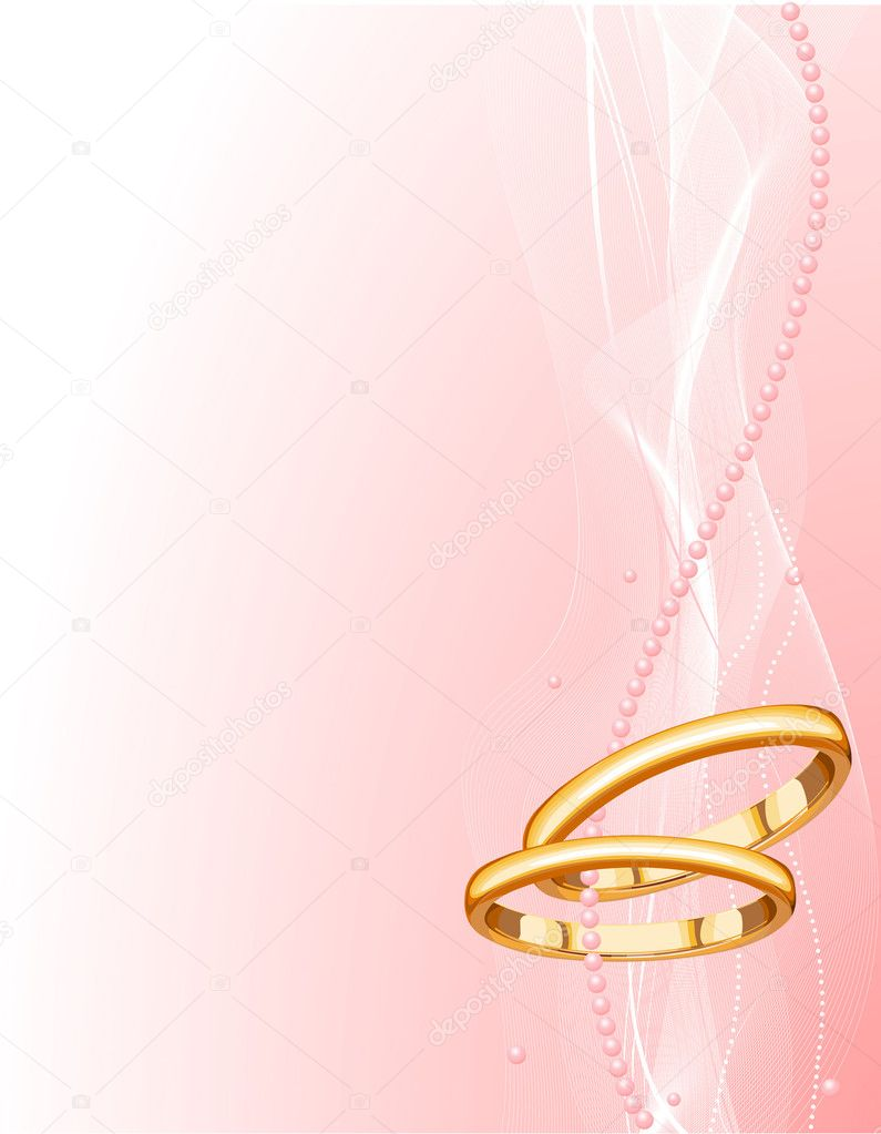 Beautiful Wedding rings Background — Stock Vector © Dazdraperma #1580074