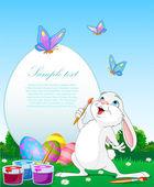 Velikonoční zajíček malování kraslic