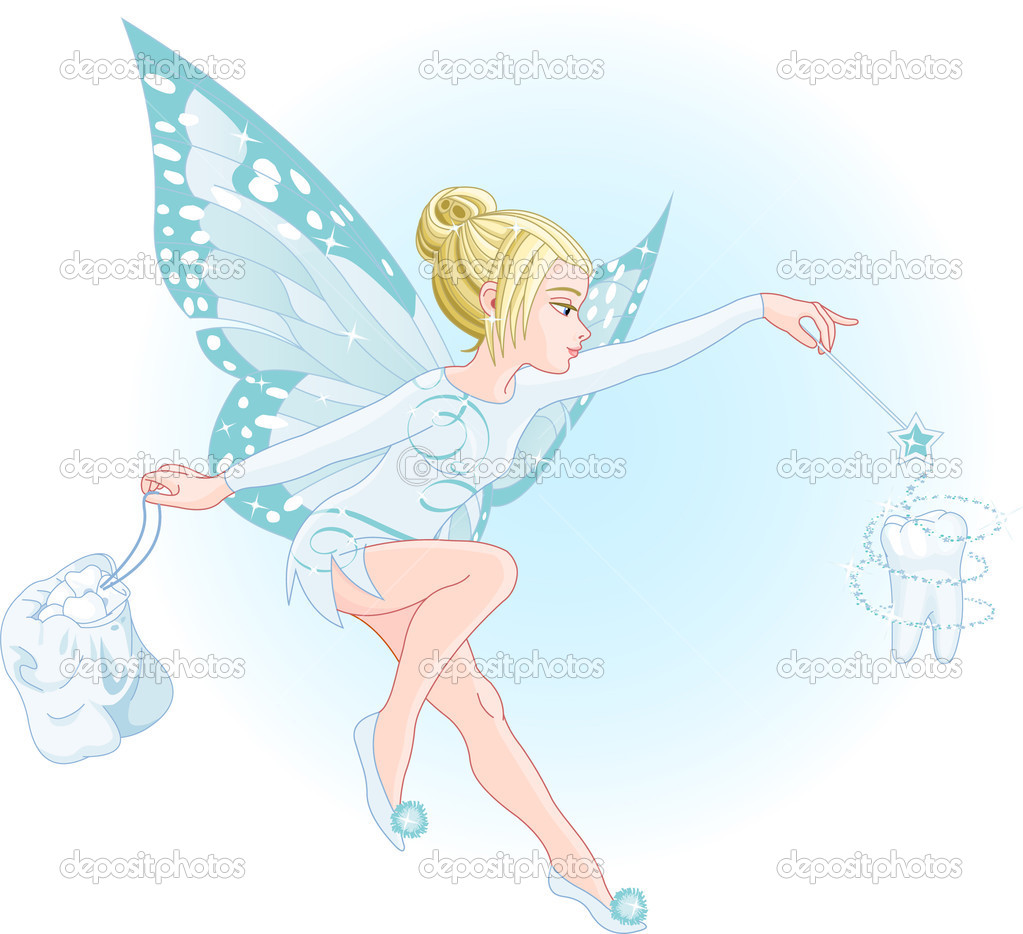 Tooth fairy with magic wand stock vector dazdraperma for Static wand