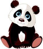 Fotografie sedící panda