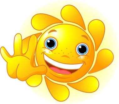 Cute Sun waiving hello