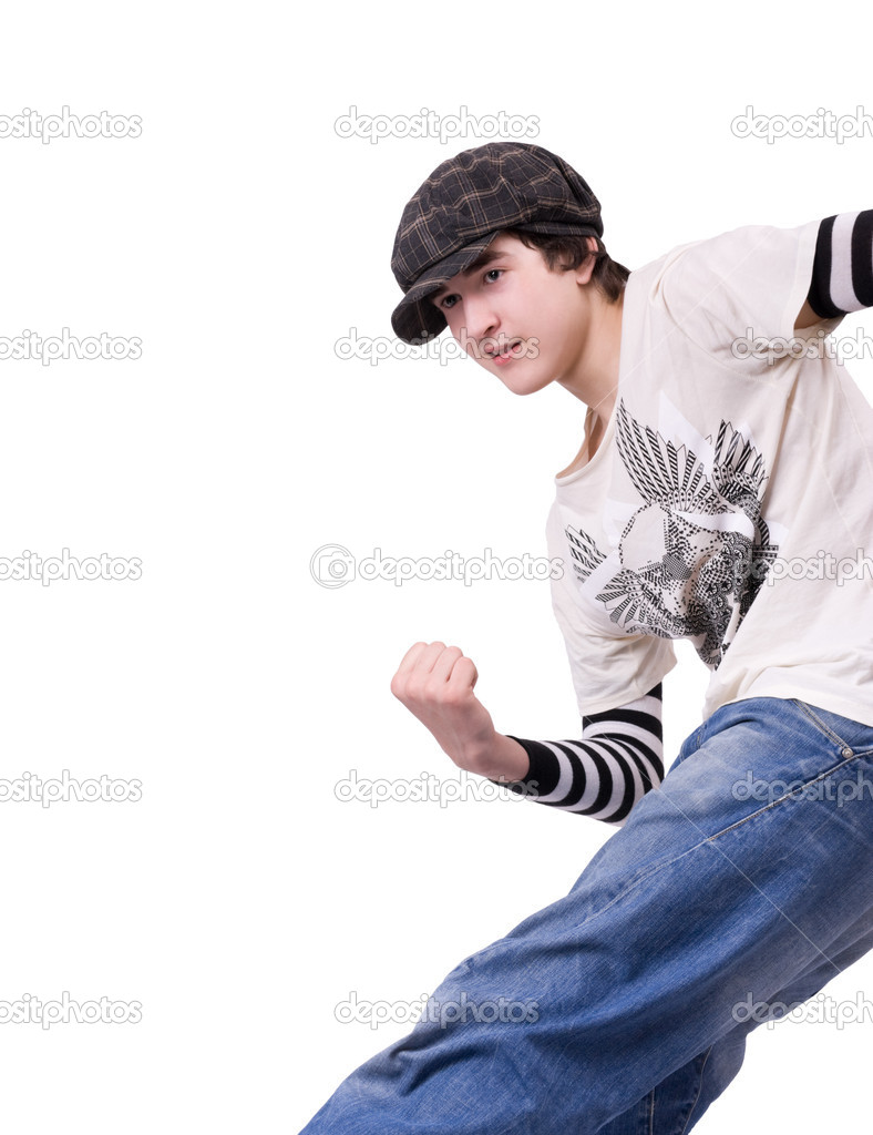 Teenager Locking or Hip-hop dancer