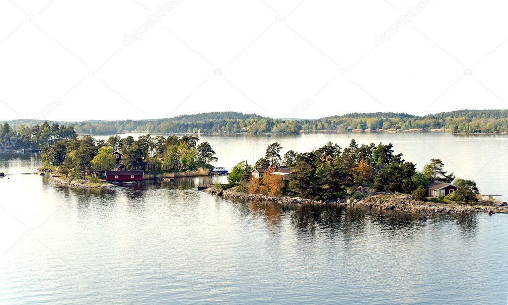 Two islands on Stockholm archipelago