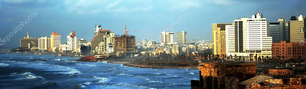 Panoramic view on Tel-Aviv from Yaffo