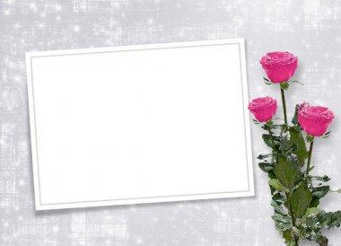 Card for congratulation or invitation wi