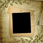 Grunge frame in scrapbooking style with