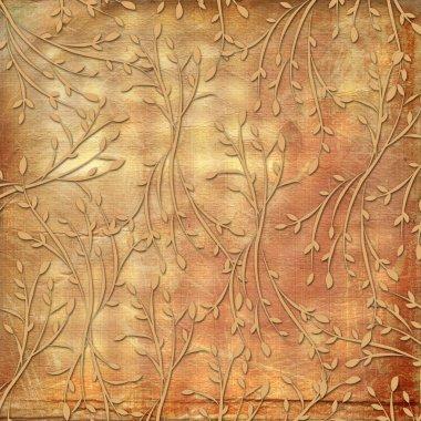 Grunge vintage background with old flor