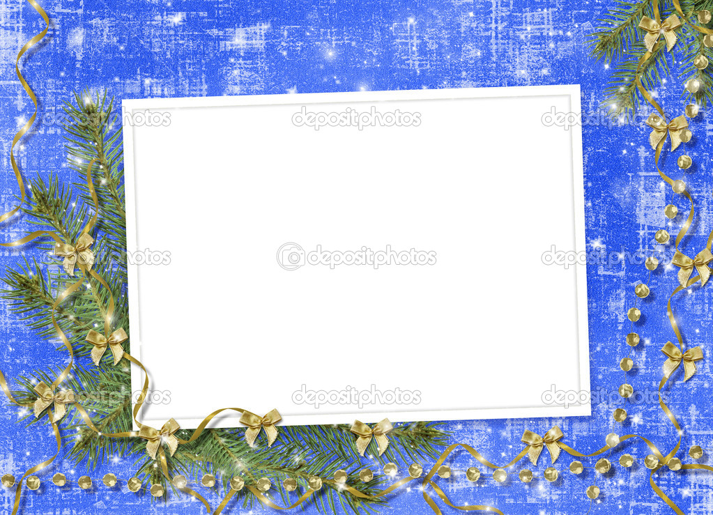 Card for congratulation with ribbons and