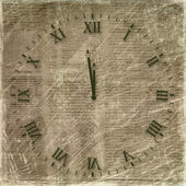 Antique clock face on the abstract backg