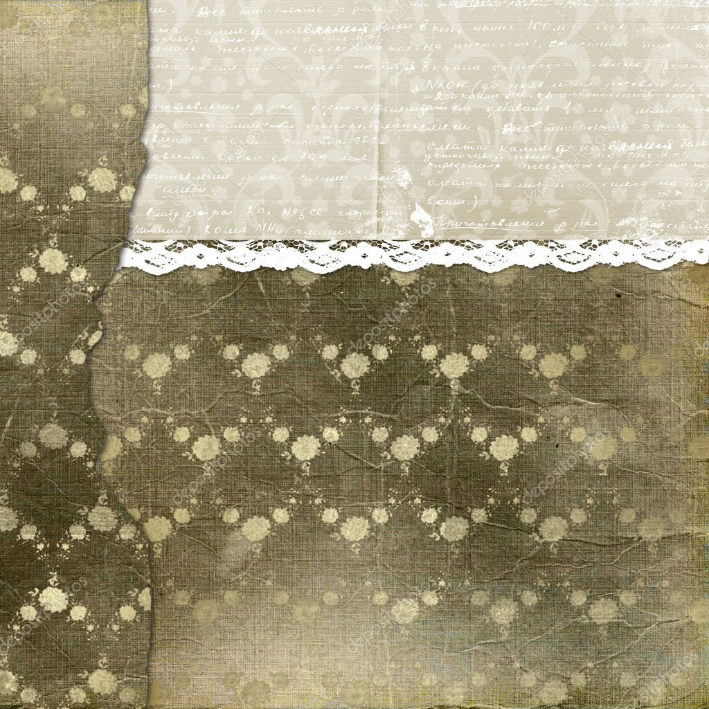 Alienated cover for photoalbum with lace