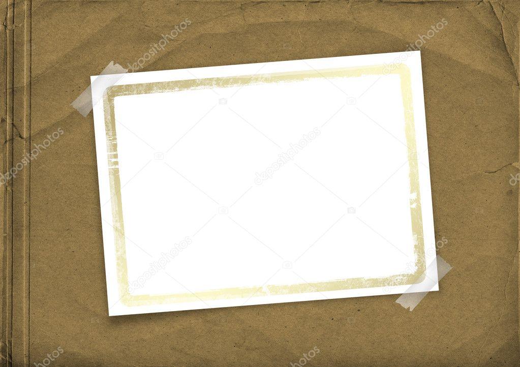 cubierta de Grunge para álbum con marco — Foto de stock © Loraliu ...