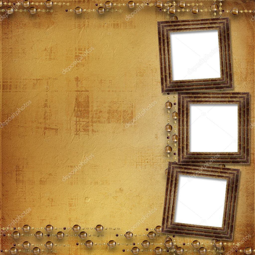 Three gold frames Victorian style