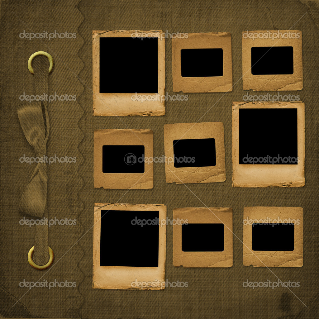 ancienne couverture brune pour album avec diapositives photographie loraliu 2318434. Black Bedroom Furniture Sets. Home Design Ideas