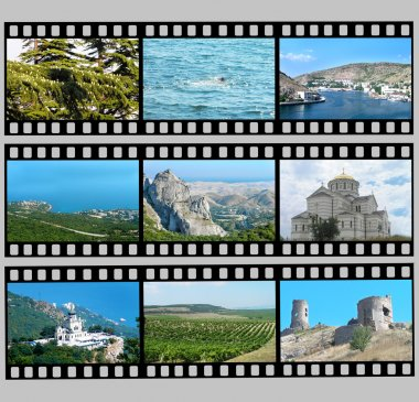 Film with photos of Crimea