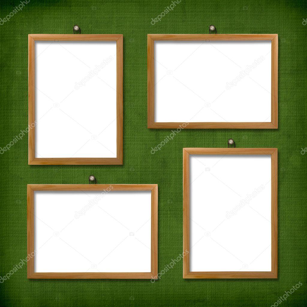 cuatro marcos de madera para retrato — Fotos de Stock © Loraliu #2326248