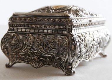 Silver ancient casket