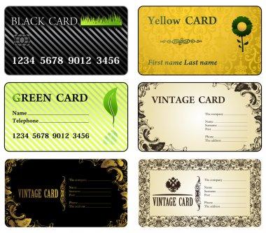 Business cards vintage modern