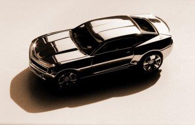 Brown silver car