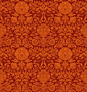 Raster Seamless Wallpaper Pattern