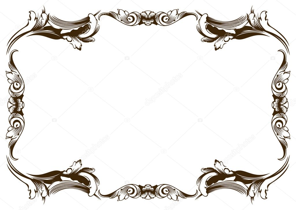 Raster new frame vintage old stock photo extezy 1238404 for Cornici vintage