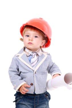 Adorable future architect