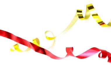 Set of holiday ribbon