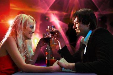 Pair on nightclub